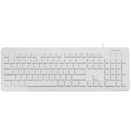 Macally MKEYX 104-key Usb Keyboard (White Microsoft Keyboard)