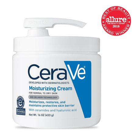 CeraVe Moisturizing Cream with Pump, Body Cream for Dry Skin, 16 - Cream Body Souffle Lotion
