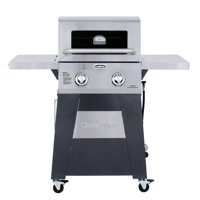 Cuisinart Two Burner Gas Grill with Stainless Steel Folable Side Tables