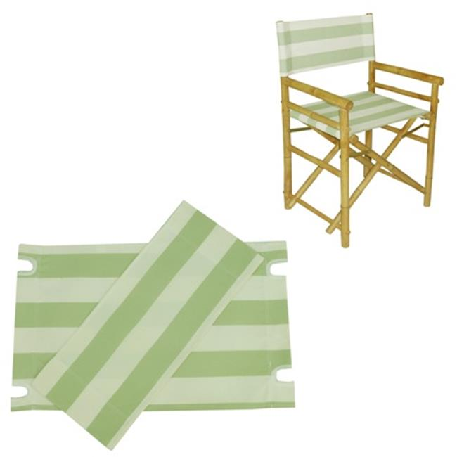 ZEW AC-999-23 Canvas For Director Chair - Celadon Stripes