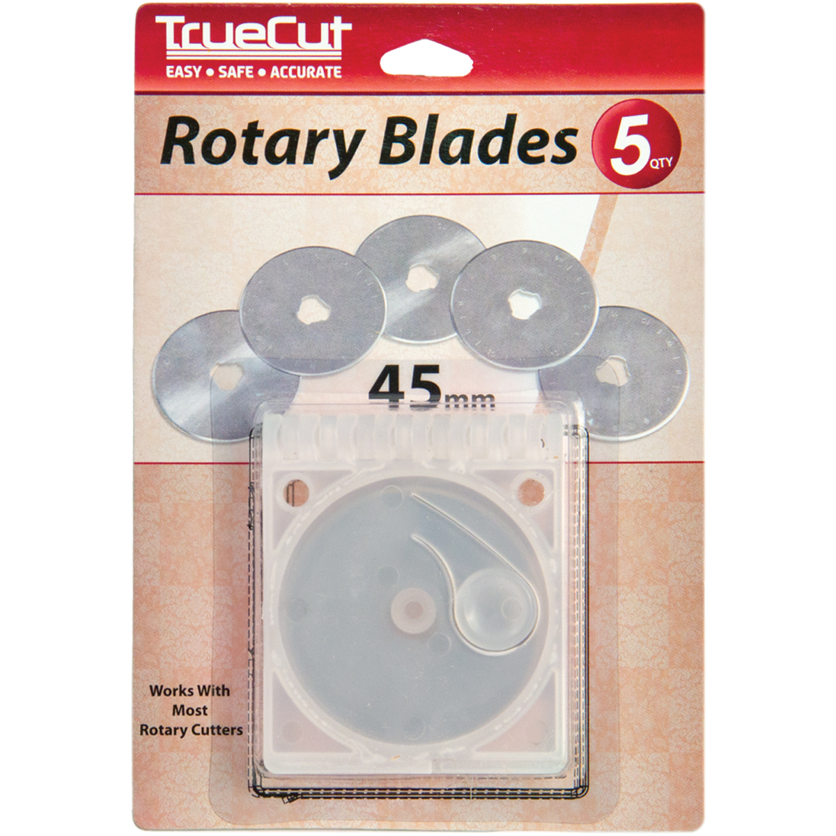 TrueCut Rotary Cutter Replacement Blades, 45mm, 5pk
