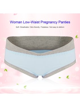 Fugacal Maternity Panties,Soft Breathable Cotton Pregnancy Maternity Underwear Low Waist Women Briefs Clothing Panties Maternity Underwear