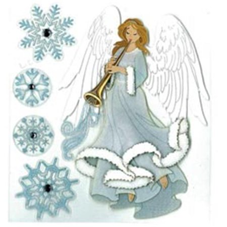 446355  Boutique Dimensional Stickers-Winter Angel - image 1 of 1