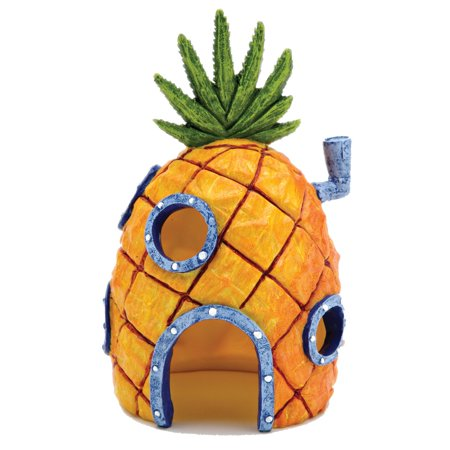 penn plax spongebob pineapple home aquarium ornament