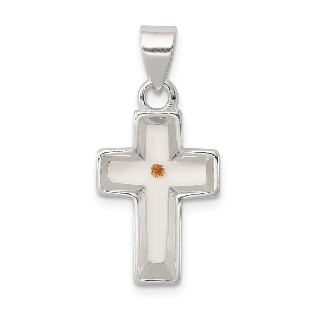 FB Jewels Sterling Silver Cross Sterling Silver Pendant