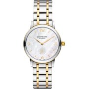 MontBlanc Star Classique Pearl White Dial Stainless & Gold Women's Watch 107913
