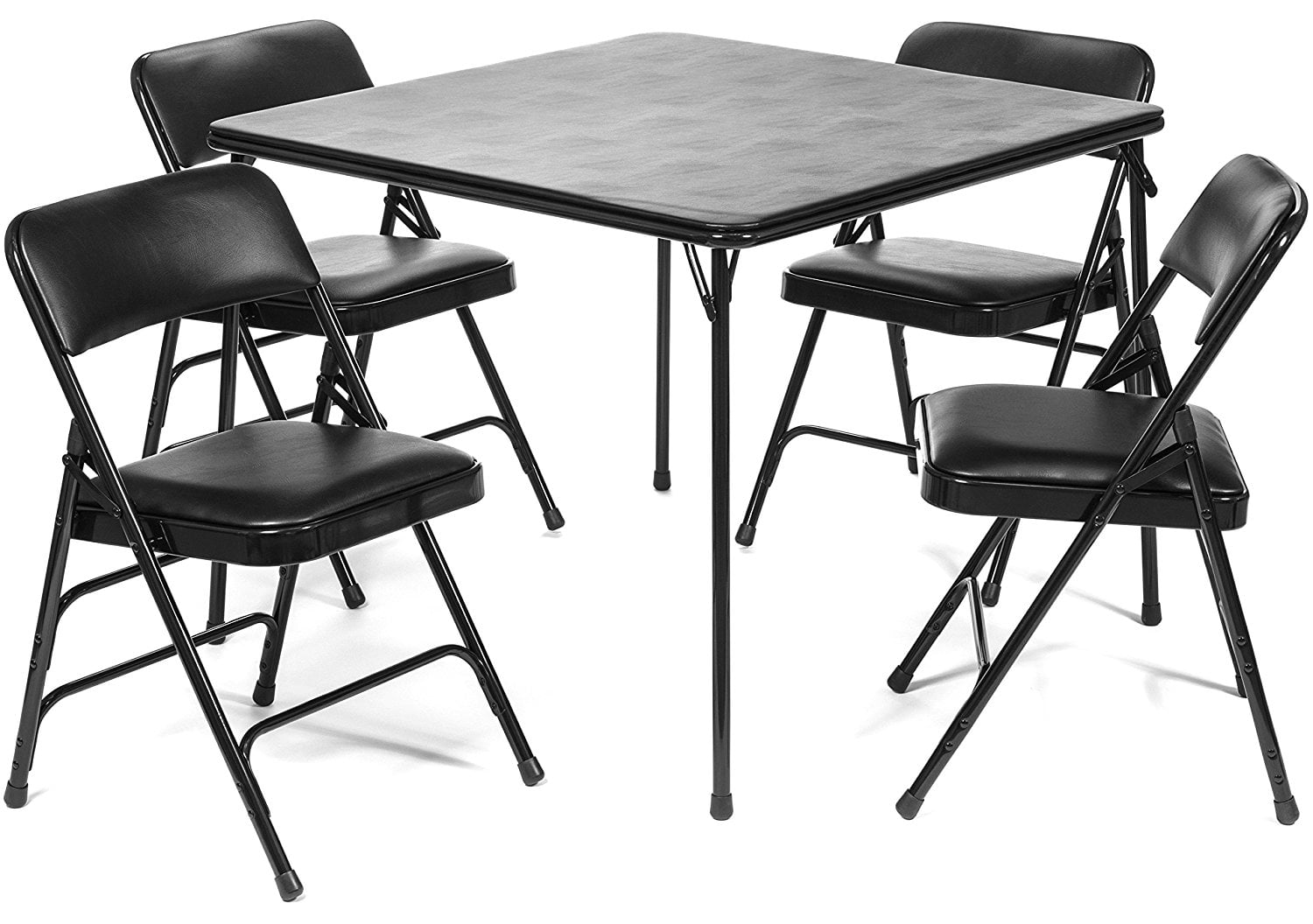 Xl Series Folding Card Table And Triple Braced Vinyl Padded Chair Set Commercial Quality Beige