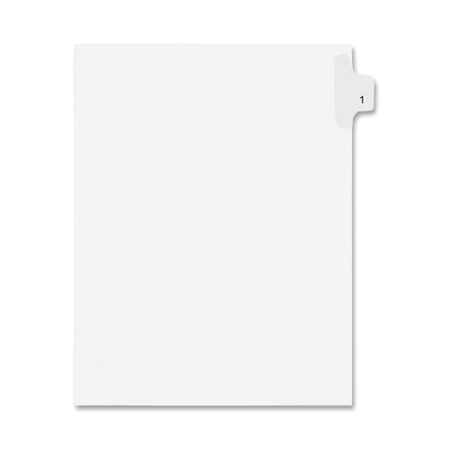 Kleer-Fax, Inc. Index Dividers,Number 87,Side Tab,1/25 Cut,Letter,25/PK,WE (Set of 3)