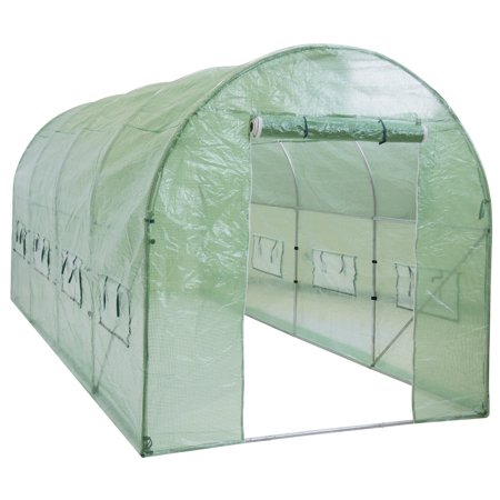 Best Choice Products 15' x 7' x 7' Portable Walk-In Greenhouse (Best Plastic Sheeting For Greenhouse)