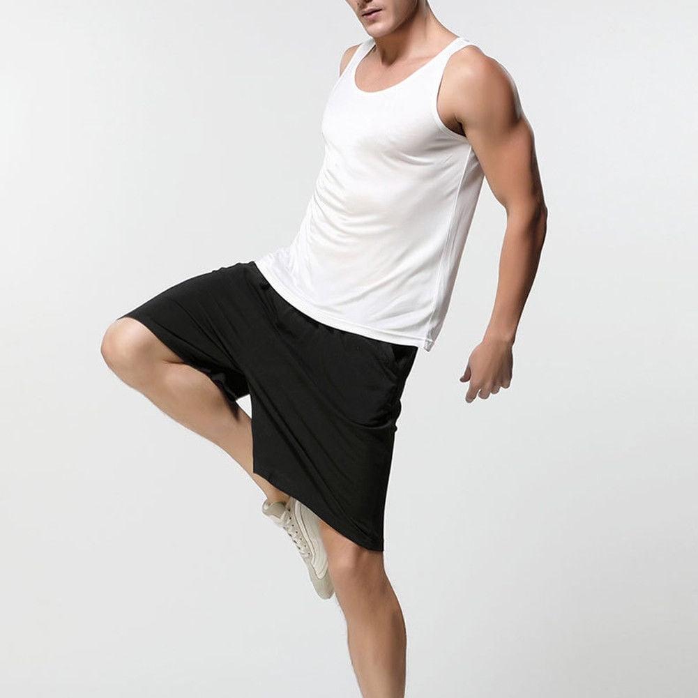 Mens Satin Silk Boxers Shorts Sleepwear Underwear Pants Nightwear Pyjamas Hot ca