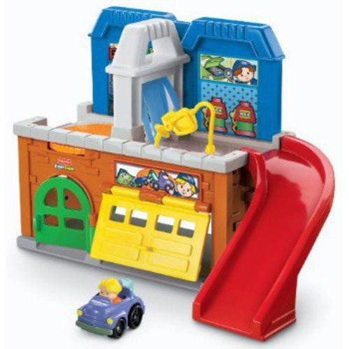 Little People Wheelies Stow 'n Tow Garage