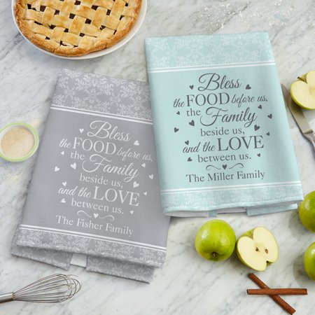 Personalized Bless This Food Kitchen Towel - Available in 2 Colors