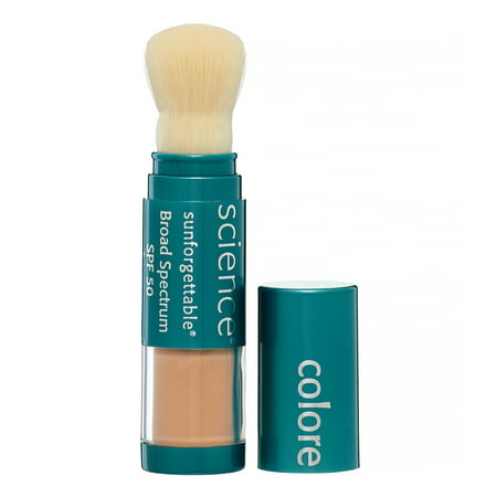 Colorescience Sunforgettable Brush-On Sunscreen Spf 50, Medium, 0.21 (Colorscience Sunforgettable Brush On Sunscreen With Spf)