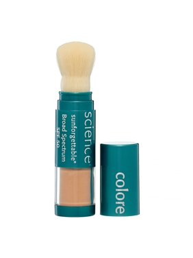 ($65 Value) Colorescience Sunforgettable Brush-On Sunscreen Spf 50, Medium, 0.21 Oz