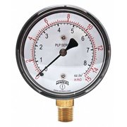WINTERS Low Pressure Gauge,Bottom,0 to 15 in H2 PLP300