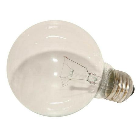 - Sylvania 14282 Decorative Incandescent Lamp, 25 W, 120 V, G25, Medium Screw ,, 1500 hr