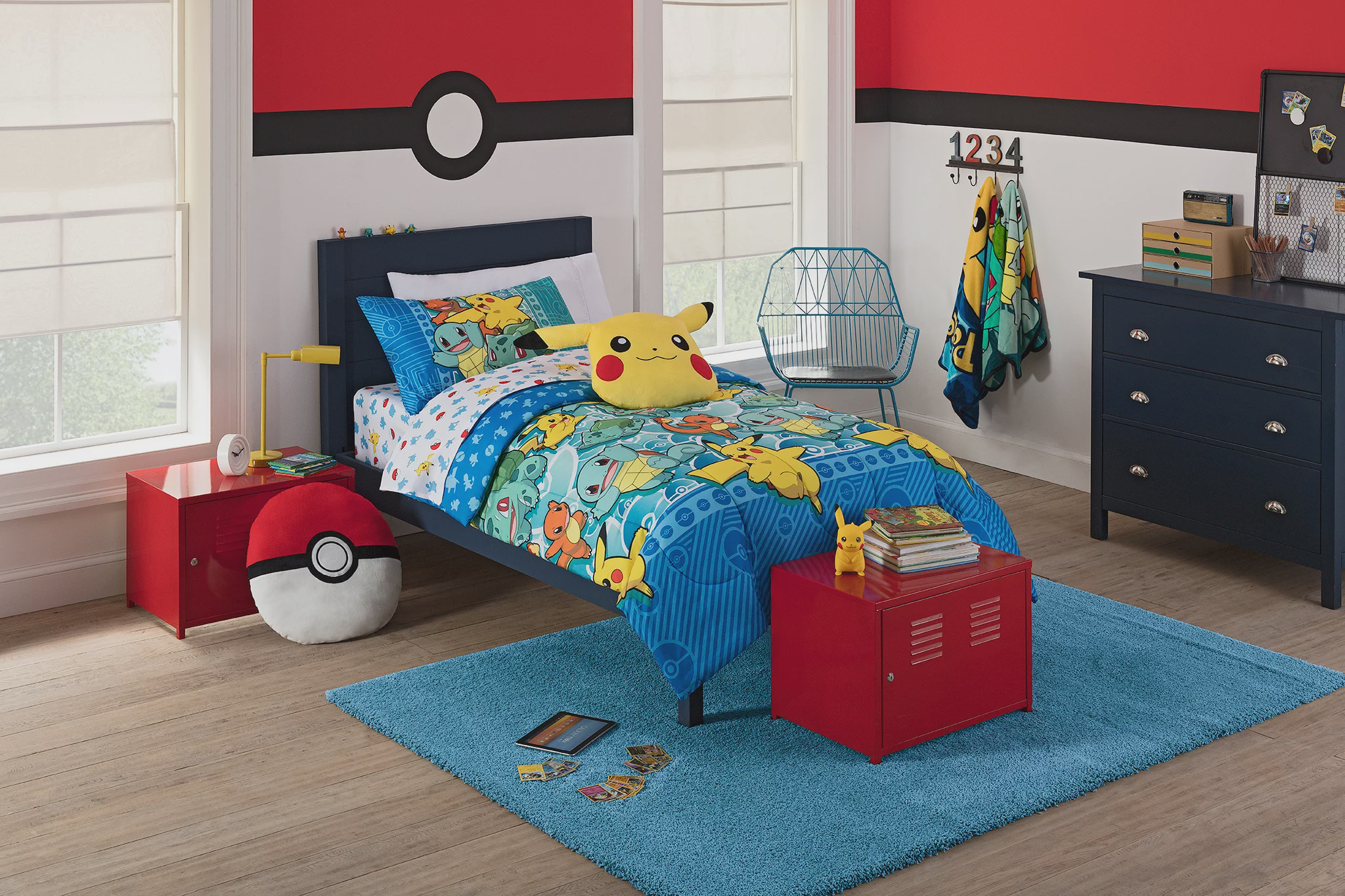 """Pokemon """"First Starters"""" 4 Piece Twin Bed in a Bag Bedding Set- Comes with... by The Northwest Company"""