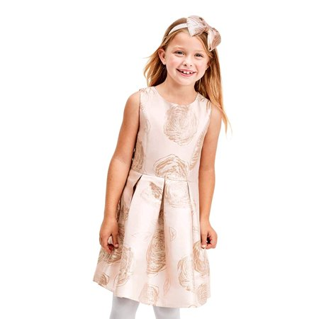 The Childrens Place Girls Big Pleated Dress, Pink, 4 The Childrens Place Girls Big Pleated Dress, Pink, 4