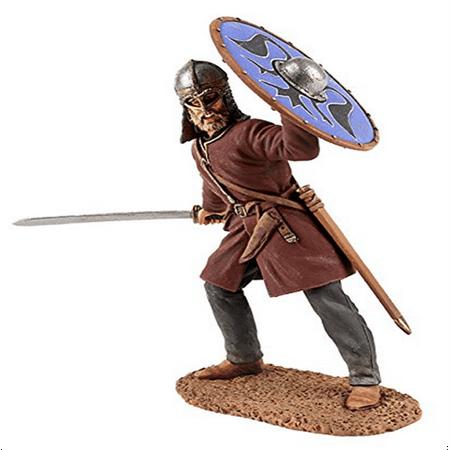 Viking Sword History - W. Britain 62103 Viking Wearing Gjermundbu Helmet Swinging Sword