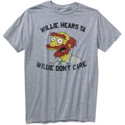 Simpsons Willie Don't Care Men's Graphic Short Sleeve Tee