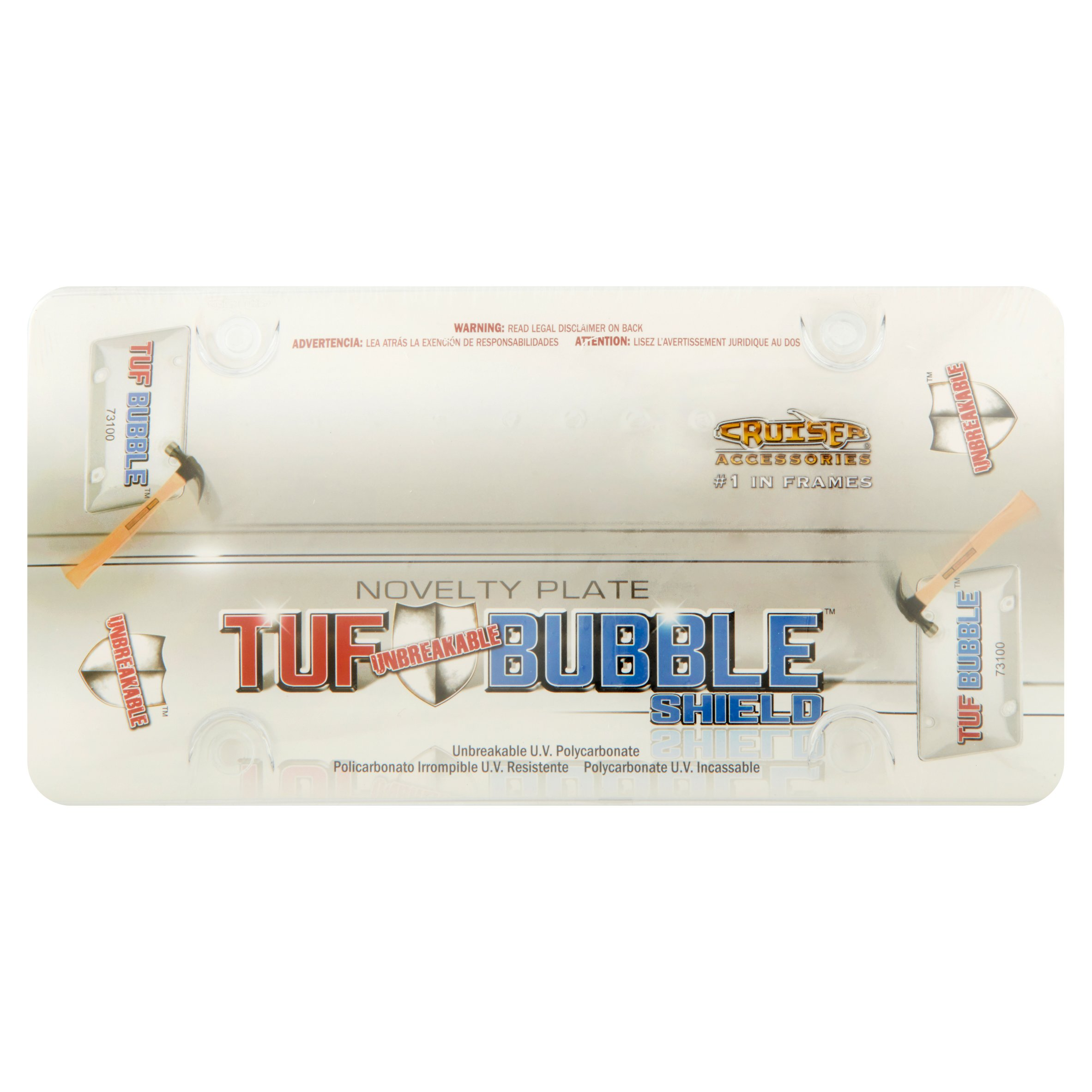 Cruiser Accessories Tuf Unbreakable Bubble Shield Novelty Plate