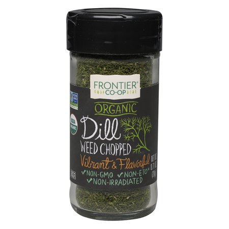 (2 Pack) Frontier Natural Products Organic Dill Weed Chopped, 0.64 Oz