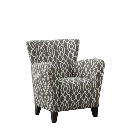 Awe Inspiring Accent Chair Brown Bell Pattern Fabric Gmtry Best Dining Table And Chair Ideas Images Gmtryco
