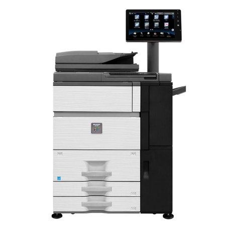 Refurbished Sharp MX-6500N Color Laser Production Printer - 65ppm, Print, Copy, Scan, Auto Duplex, Network, 1200x1200 dpi, 2 Trays, High Capacity Tandem Tray