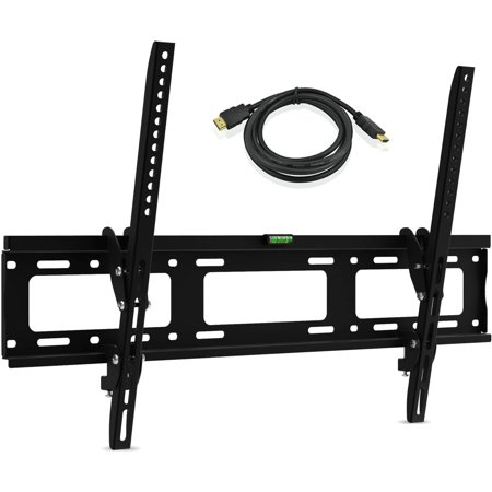 Display Wall Mounting Kit - Ematic Tilt/Swivel, Universal Wall Mount for 30 Inch-79 Inch TVs with 6-Feet HDMI Cable