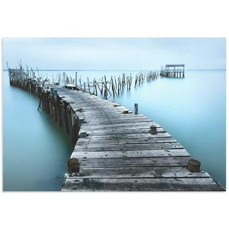 Metal Art Studio Old Aqua Dock By Jes S M  Garc A Photographic Print