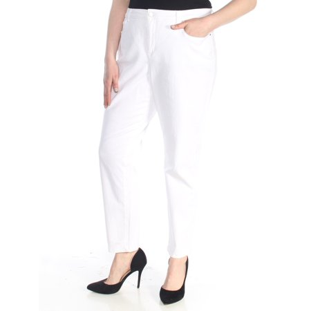 Mesh Tummy Control Jeans - CHARTER CLUB Womens White Tummy Control Jeans  Size: 18