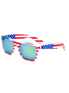 bb5272b80 Product Image Newbee Fashion - 80's Blue Brothers Vintage Classic American  Patriot Flag Mirror Sunglasses USA High Quality