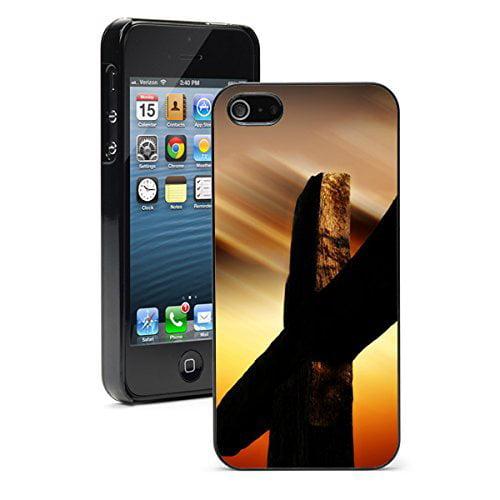 Apple iPhone (6 Plus / 6s Plus) Hard Back Case Cover Jesus Passion Cross (Black)