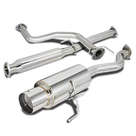 "For 1996 to 2000 Honda Civic Catback Exhaust System 4"" Tip Muffler - 3 Door Hatchback EK 97 98 99"