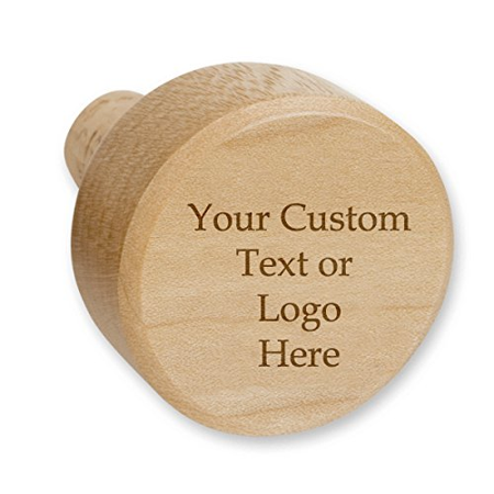 Custom Personalized Gift Genuine Maple Wood Novelty Wine Stopper with Cork