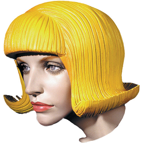 Flip Latex Rubber Wig Halloween Accessory