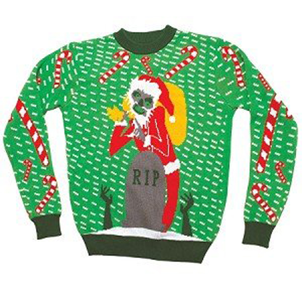 Zombie Santa Ugly Christmas Sweater,