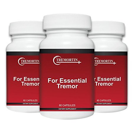 Tremortin –3 Pack- Best Natural Aid for Essential Tremor - Provides Relief for Shaky Hands, Arm, Leg, & Voice