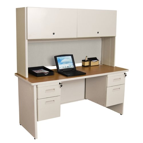 Marvel Office Furniture Pronto Double File Computer Desk with Hutch