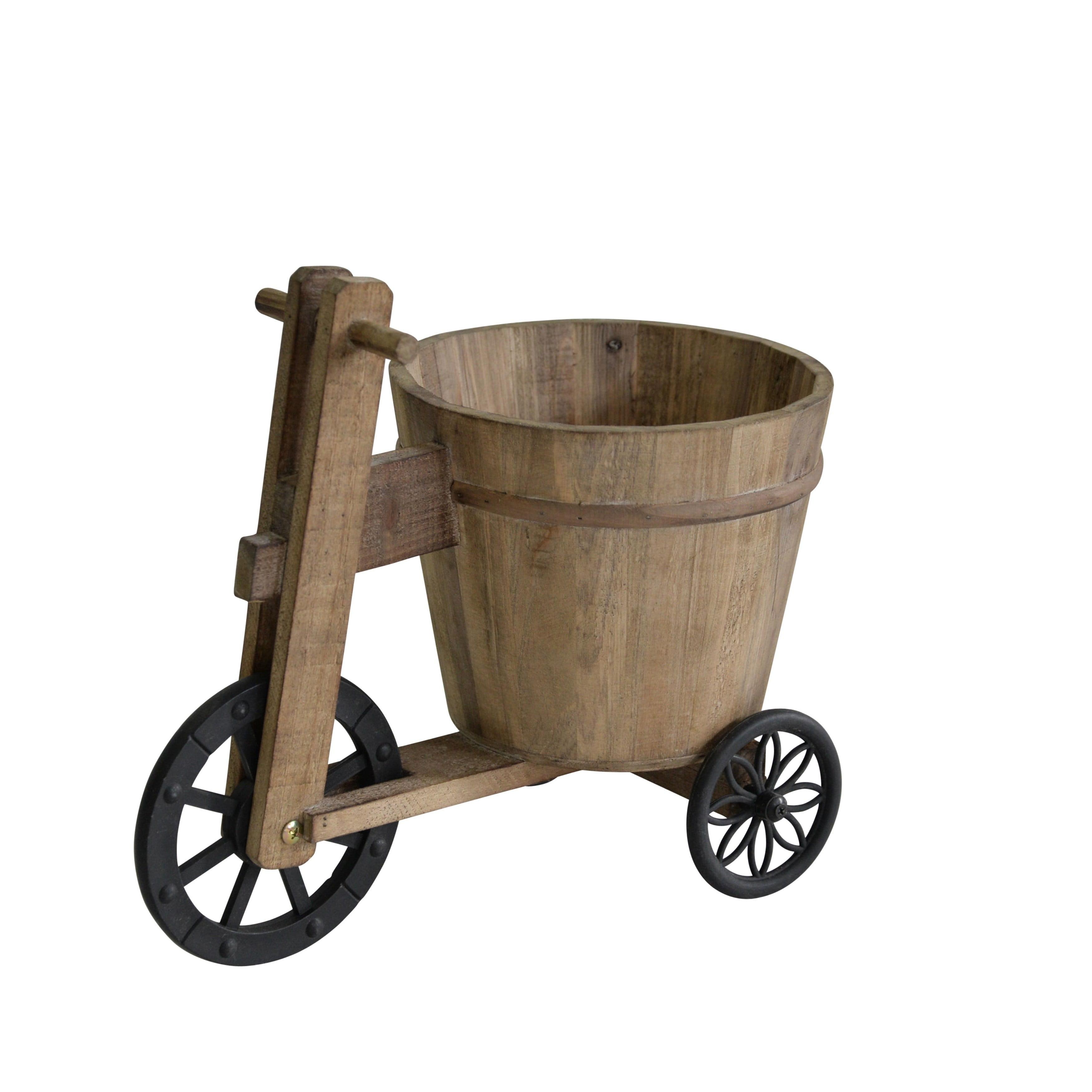 Benzara Mid Century Modern Wooden Trike