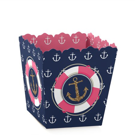 Last Sail Before The Veil - Party Mini Favor Boxes - Nautical Bridal Shower or Bachelorette Party Treat Candy Boxes - - Bachlorette Favors