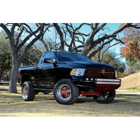 N-Fab RSP Front Bumper 09-17 Dodge Ram 1500 - Gloss Black - Direct Fit LED (N Fab Bumper Dodge Ram)