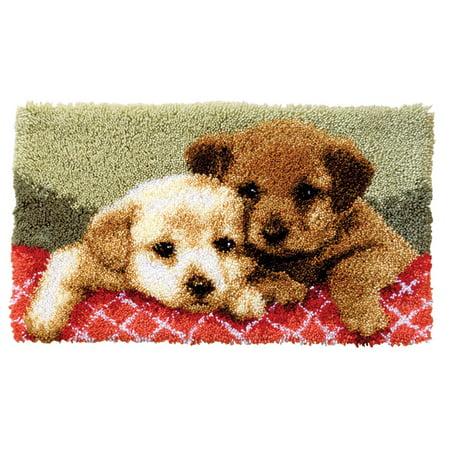 Vervaco® Labrador Puppies Latch Hook Kit