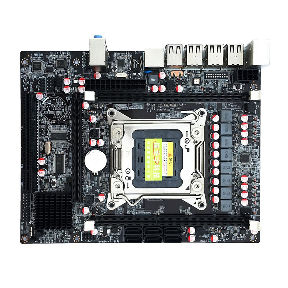 Desktop Computer Mainboard X79 Gaming Motherboard LGA 2011 ATX 4 Channels All Solid Board Support E5-2670 2650 On Sale