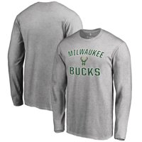 Milwaukee Bucks Victory Arch Long Sleeve T-Shirt - Ash