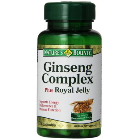 - Nature's Bounty Ginseng Complex Plus Royal Jelly Capsules 75 ea (Pack of 2)