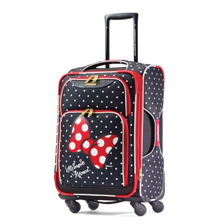 American Tourister Disney Minnie Mouse 21-inch Softside Spinner, Carry-On Luggage, One Piece
