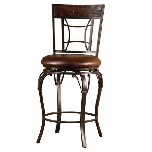 Hillsdale Granada Wood And Metal Swivel Stool Walmart Com