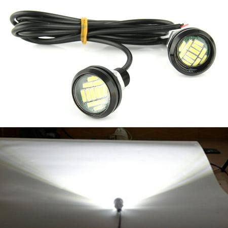 2*15W 12 LED Eagle Eye Signal Light Backup Parking Running Light Daytime - Eyes Light Up