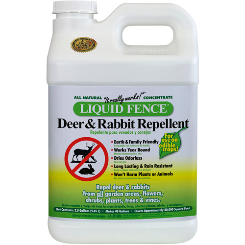 Liquid Fence 123 2.5 Gallon Deer & Rabbit Repellent Concentrate